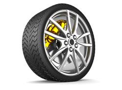 Schnelle Fahrt durch gute Reifen